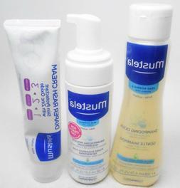 Mustela  Foam Shampoo For Newborns+Gentile Shampoo+Diaper Ra