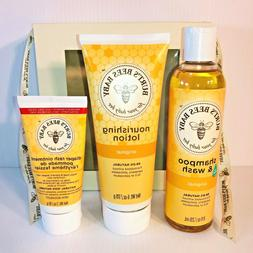 Burt's Bees Baby Set - Shampoo, Lotion & Diaper Rash Ointmen