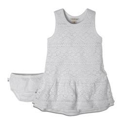 Burt's Bees Baby Organic Racerback Crochet Dress & Diaper