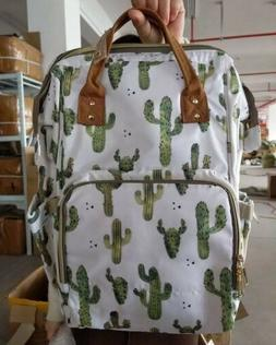 CACTUS BACKPACK DIAPER BAG OVER NIGHT BAG NAPPY MULTI NEW
