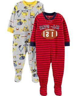 Carter's Baby Boys' 2-Pack Fleece Footed Pajamas