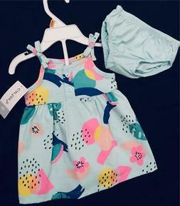 Carter's Baby Twin Girl Newborn NB Dress Sundress Outfit Sum