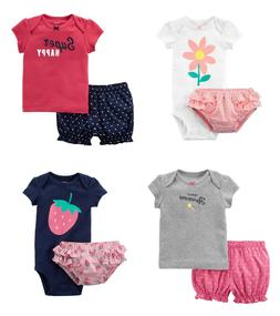 Carter's Baby Girls 2-Piece Bodysuit & Diaper Cover Set or T