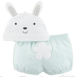 Carter's Easter Baby Bunny Hat and Diaper Cover Set 0-3M or