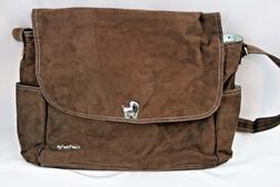 CARTER'S Large Brown Micro Suede Blue Lining Shoulder Diaper