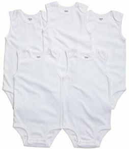 Carter's Unisex Baby 5-Pack S/L Bodysuits - White - 24 Month