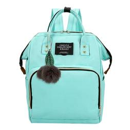 Casual High Capacity Backpack Solid Color Mommy Maternity Tr