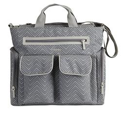 Carter's Cheron Print Tote Diaper Bag, Grey