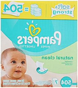 Pampers Natural Clean Unscented Water Baby Wipes 7X Refill P