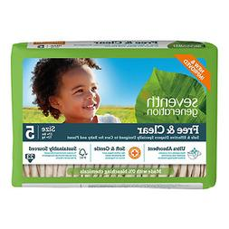 Seventh Generation Free & Clear Baby Diapers, Stage 5, 27+ l