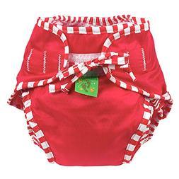 Kushies Cloth Swim Diaper - - Red - Large