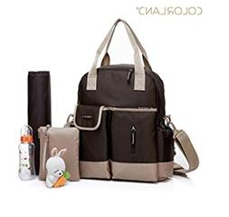 Colorland 5 Carry Ways Baby Diaper Bag w/ Changing Pad - Ope
