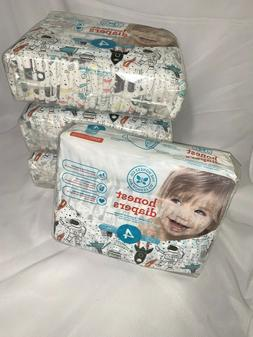 Honest Company Baby Diapers Size 4  22-37 Pounds Astronaut S