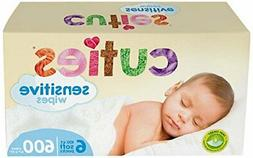 Cuties Complete Care Sensitive Baby Wipes Unscented, 600 Cou