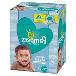 complete clean scented baby wipes pop top