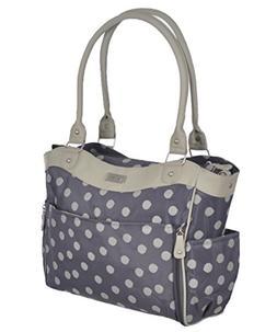 Carter's Convertible Drop Front Print Diaper Bag, Grey Beige