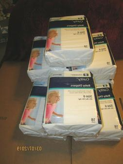 covidien baby diapers size 6 case of