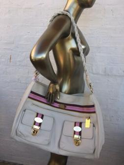Christine Price Cream White Haute Tinley Diaper Bag Calfskin