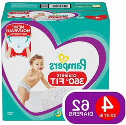 Pampers Cruisers 360˚ Fitt  Baby Diapers Pull On Size 4 62