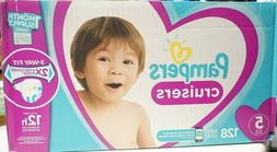 Pampers Cruisers Disposable Baby Diapers, Size 5, 128 Count,