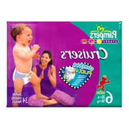 Pampers Cruisers Mega Pack Diapers Size 6 35+ lbs