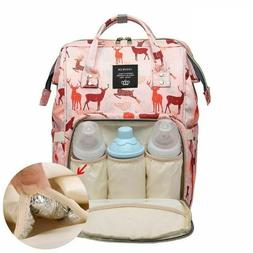 Cute Deer Printed Diaper Bags Backpack Maternity Nursing Sho