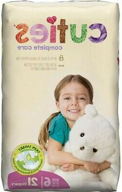 Cuties Complete Care Baby Diapers, Size 6- 21 ea