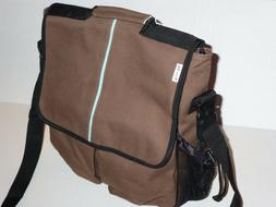 Daddy Diaper Bag Eco-Friendly Organic Cotton Chocolate Brown