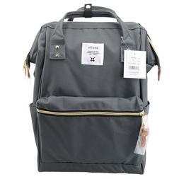 Dark Grey Anello Japan Unisex Fashion Backpack Rucksack Diap