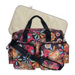Trend Lab Deluxe Duffle Diaper Bag with Changing Pad, Bohemi