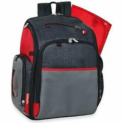 Fisher Price Deluxe FastFinder Backpack Diaper Bag Black cha