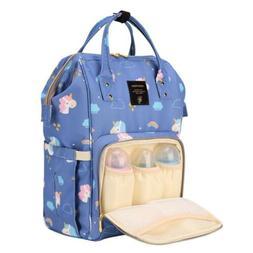 Designer Unicorn Fairy Multifunctional Diaper Bag. WATERPROO