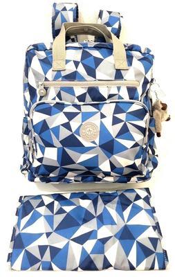 Kipling Diaper Backpack Baby Bag Audrie Blocking Jay Overnig