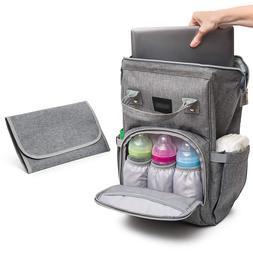 diaper backpack men insulated baby bag travel