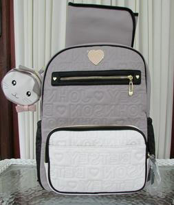 Betsey Johnson Diaper Backpack School Travel Bag Quilted Log