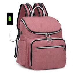 Diaper Bag Backpack Baby Travel Large Capacity USB Charging