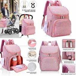 Diaper Bag Backpack LARGE Baby Girl Multi Function Travel Ba