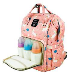 Diaper Bag Backpack Large Capacity Unicorn Baby Travel Bookb