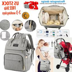 Diaper Bag Backpack Nappy Bags  Insulated Pockets  Multi-fun