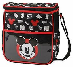 Diaper Bag + Bottle & Pacifier Tote Mickey Mouse Black Blue