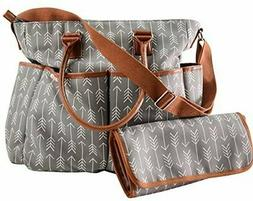 Diaper Bag For Boys & Girls With Matching Baby Changing