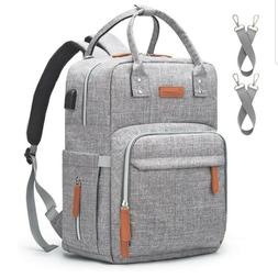 diaper bag light gray diaper back pack