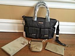 Perry Mackin diaper bag NWT black Brand New cross over body