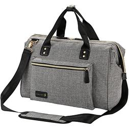 Diaper Bag, RUVALINO Large Diaper Tote Stylish for Mom and D