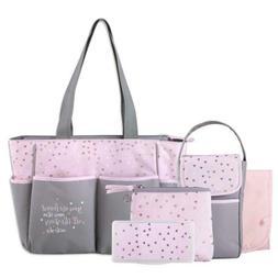 Baby Diaper Bag Tote 5 Piece Set