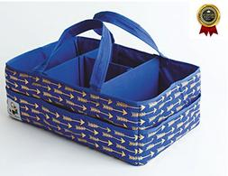Diaper Caddy Organizer - Large Nursery Storage Tote for Baby