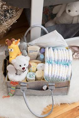 Baby Diaper Caddy and Changing Pad | Nursery, Changing Table