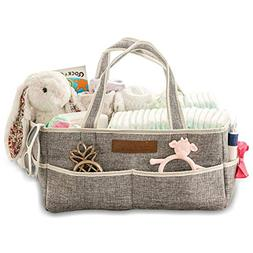Diaper Caddy Organizer By Premium Quality Collapsible Storag
