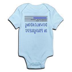 CafePress Diaper Download in Progress Infant Bodysuit Cute I