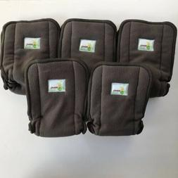 Naturally Nature Diaper Inserts Lot Of 5 Bamboo Fleece Hypoa